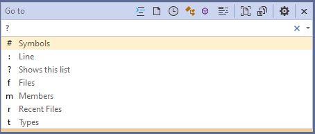 Visual Studio 2019 Go to All Help