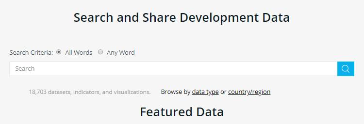 Datasets for Machine: World bank dataset