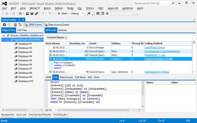 Visual Studio 2019 extensions  LINQ Insight Express ORM Profiler
