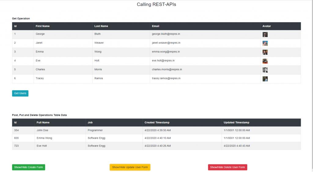 consume REST API in Blazor Application