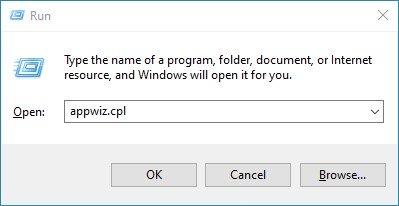 publish a Blazor Server Application to IIS appwiz.cpl