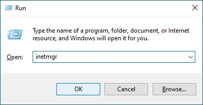 Publish a Blazor Server Application to IIS - Open IIS