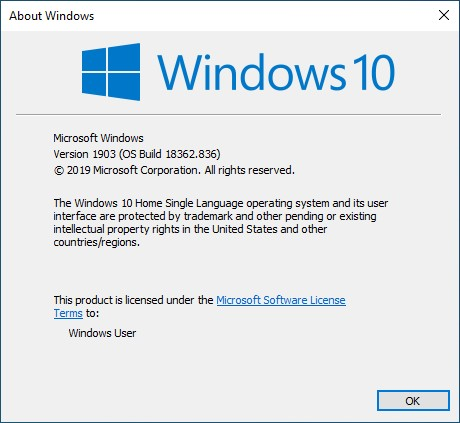 Install Windows Terminal OS Version details