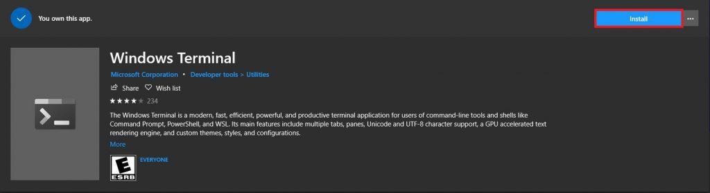 Install Windows Terminal Windows Store Install