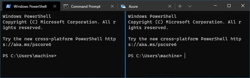 Install Windows Terminal - Panes
