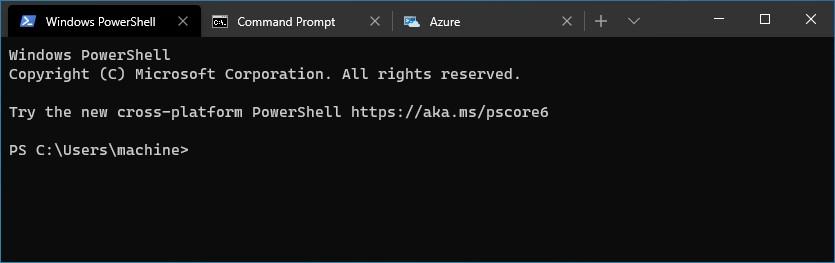 Install Windows Terminal  - Tab UI